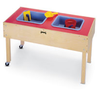 "0485JC - 24"" High 2 Tub Sand-n-Water Table"