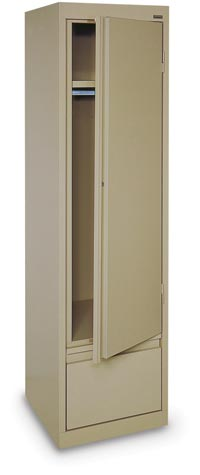 "122031 - 17"" x 18"" x 64"" Single Door Wardrobe w/ File Drawer"