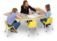 "156065 - 60"" x 66"" Horseshoe Activity Table"