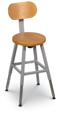 161008 - Optional Back for Grey Frame Lab Stool