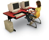 "171099 - 30"" x 72"" Bi-Level Computer Table"