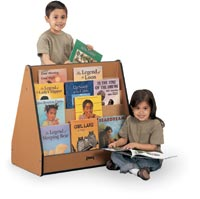 195006 - Sproutz 100% Recycled Wood Double-Sided Pick-A-Book Stand