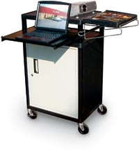 204046 - Presentation Cart with Locking Cabinet