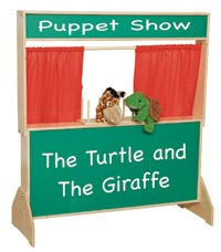 21650 - Deluxe Puppet Theater with Chalkboard Front
