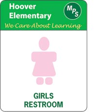 223061 - Customizable Girls Restroom Sign