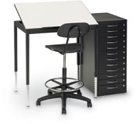 27335 - One-Piece Top Graphic Arts/Drafting Table