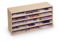 434 - 15 Pocket Horizontal Steel Literature Rack