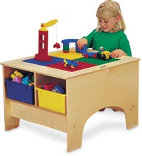 195237 - Duplo Compatible Building Table With Colored Tubs