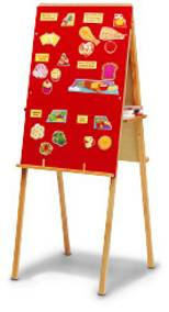 754A - Red Flannel/Marker Easel