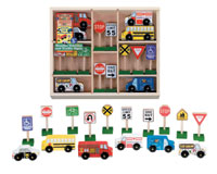 790009 - Wooden Vehicles and Traffic Signs