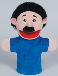 797008 - Hispanic Family Ethnic Family Puppets