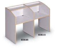 8336115 - Curved End Panel Study Carrel Single Sided Add-On