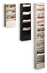 863 - 23  Pocket Wall Mount Literature Rack