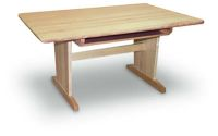 A126 - Solid Maple Elementary  Art Table with Book Compartment