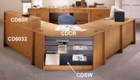 CDTD39 - Library Circulation Desk 2 Drawer Circulation Unit