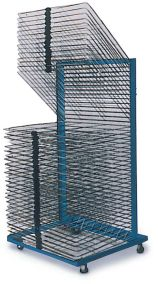 DR2440A - AWT Single Sided Mobile Drying & Storage Rack 40 Shelves