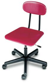 HM90 - Solid Plastic Mobile Gaslift Chair