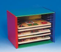 LCI1006 - Wooden Puzzle Storage Case Colored