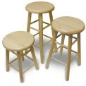 "S180 - 18"" Wooden Classroom Stool"