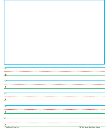 Free printable lined writing paper with fancy decorated