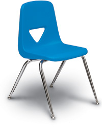 Virtually Static Free Stacking Chairs