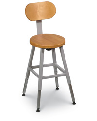Wood Lab Stool