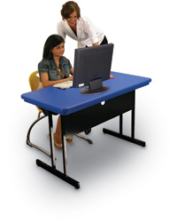 Lightweight Blow-Molded Computer Tables