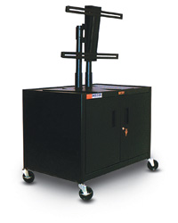 Mobile Plasma Carts with Universal Plasma TV Mount