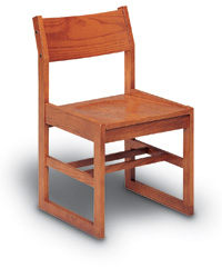 Solid Oak Sled Base Chairs