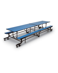 Mobile Bench Cafeteria Tables