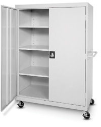 Extra Wide Mobile Storage Cabinet