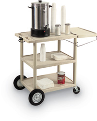Sturdy Poly Serving Carts