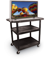 Wide Top Shelf Cart for Large Plasma TV