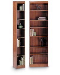 Square Edge Wood Veneer Bookcases