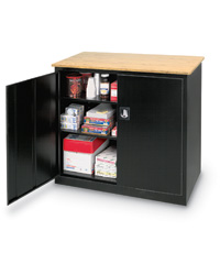 Heavy Duty Counter Height Storage Cabinet