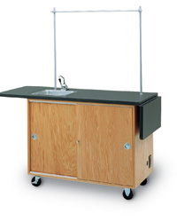 Mobile Laboratory Unit with Drop Leaf Extensions