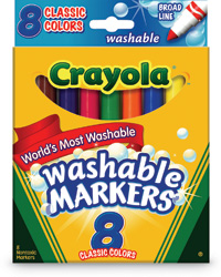 Conical Tip Washable Markers