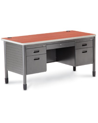 Multiple-Drawer Metal Desks