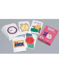 Money and Time Flash Cards