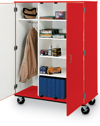 Mobile Storage & Wardrobe Combo Cabinets