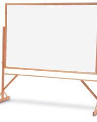Double-Sided Porcelain Whiteboards with Oak Frame