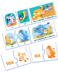 Read and Rhyme: Short Vowels Puzzle