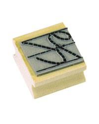 Upper Case Cursive Closure Stamp Set