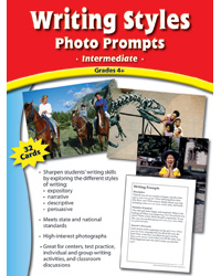 Writing Styles Photo Prompt Cards