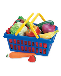 Fruit & Vegetable Play Food Basket