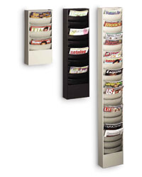 Wall Mounted Literature Rack