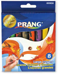 Prang Large Sized Wax Crayons