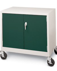 Colorful Mobile Counter Height Storage Cabinet