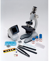 Deluxe Classroom 4-Way Microscope Set