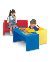 Educube and Edubench Plastic Furniture